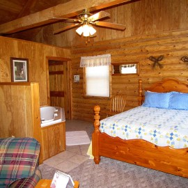 Blue Meadow Cabin Queen Bed
