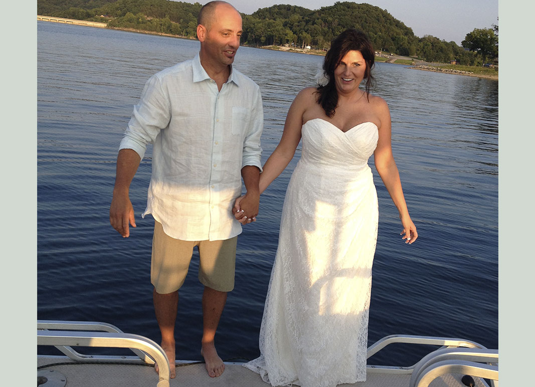 pontoon wedding ceremony